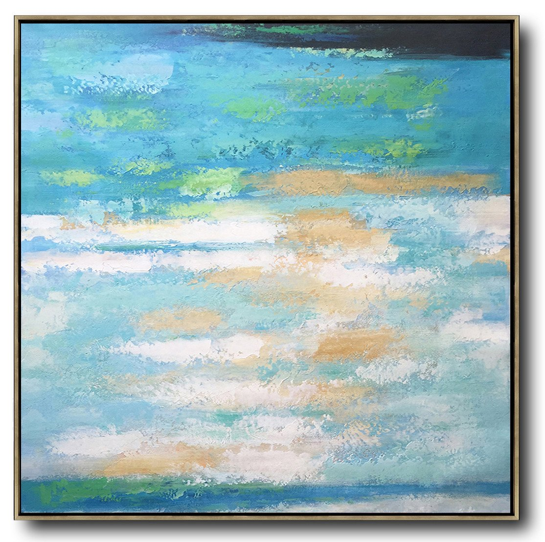 Original Artwork Extra Large Abstract Painting,Oversized Contemporary Art,Extra Large Artwork,White,Blue,Green,Yellow.etc