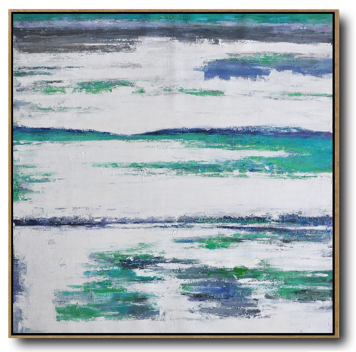 Original Painting Hand Made Large Abstract Art,Large Abstract Landscape Oil Painting On Canvas,Canvas Artwork For Sale,Green,White,Blue.etc