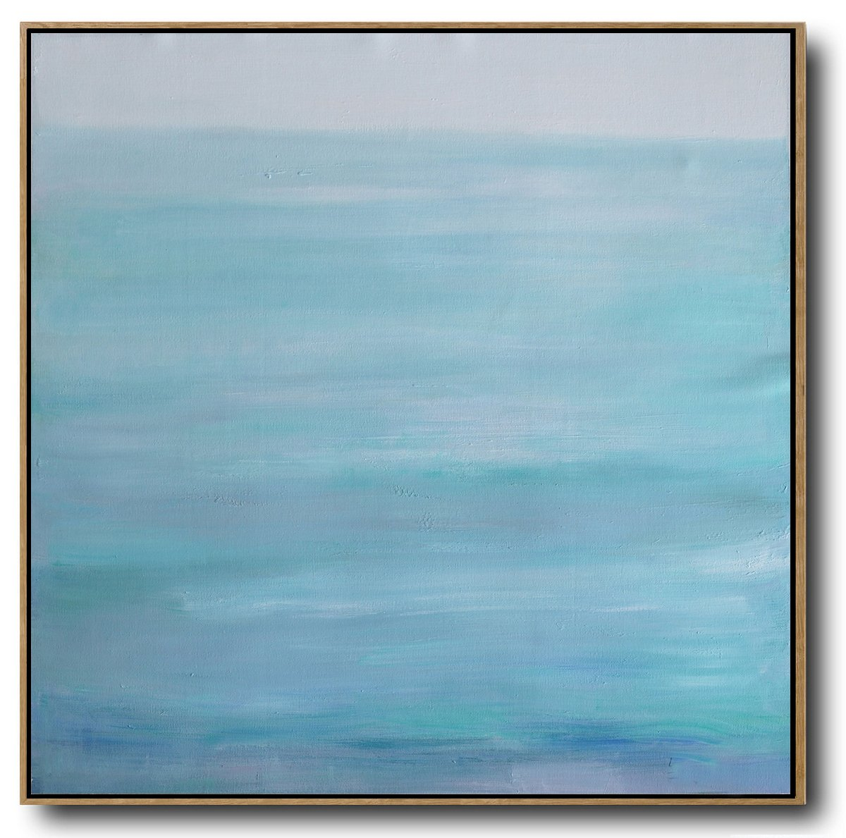Huge Abstract Painting On Canvas,Large Abstract Landscape Oil Painting On Canvas,Hand Painted Original Art,Green,Blue,Gray.etc