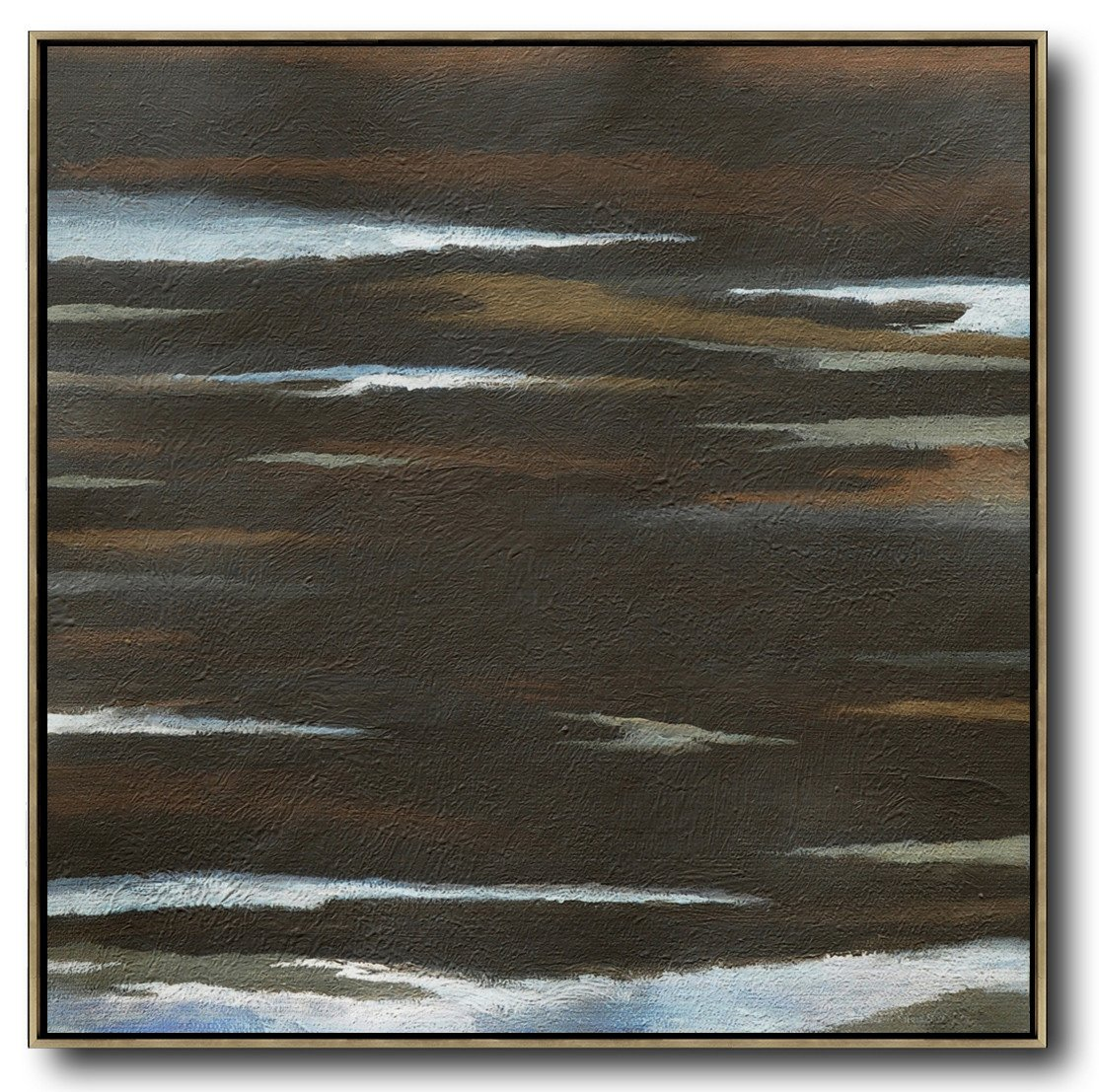 Extra Large Textured Painting On Canvas,Oversized Abstract Landscape Painting,Hand Paint Abstract Painting,Brown,White,Black.etc