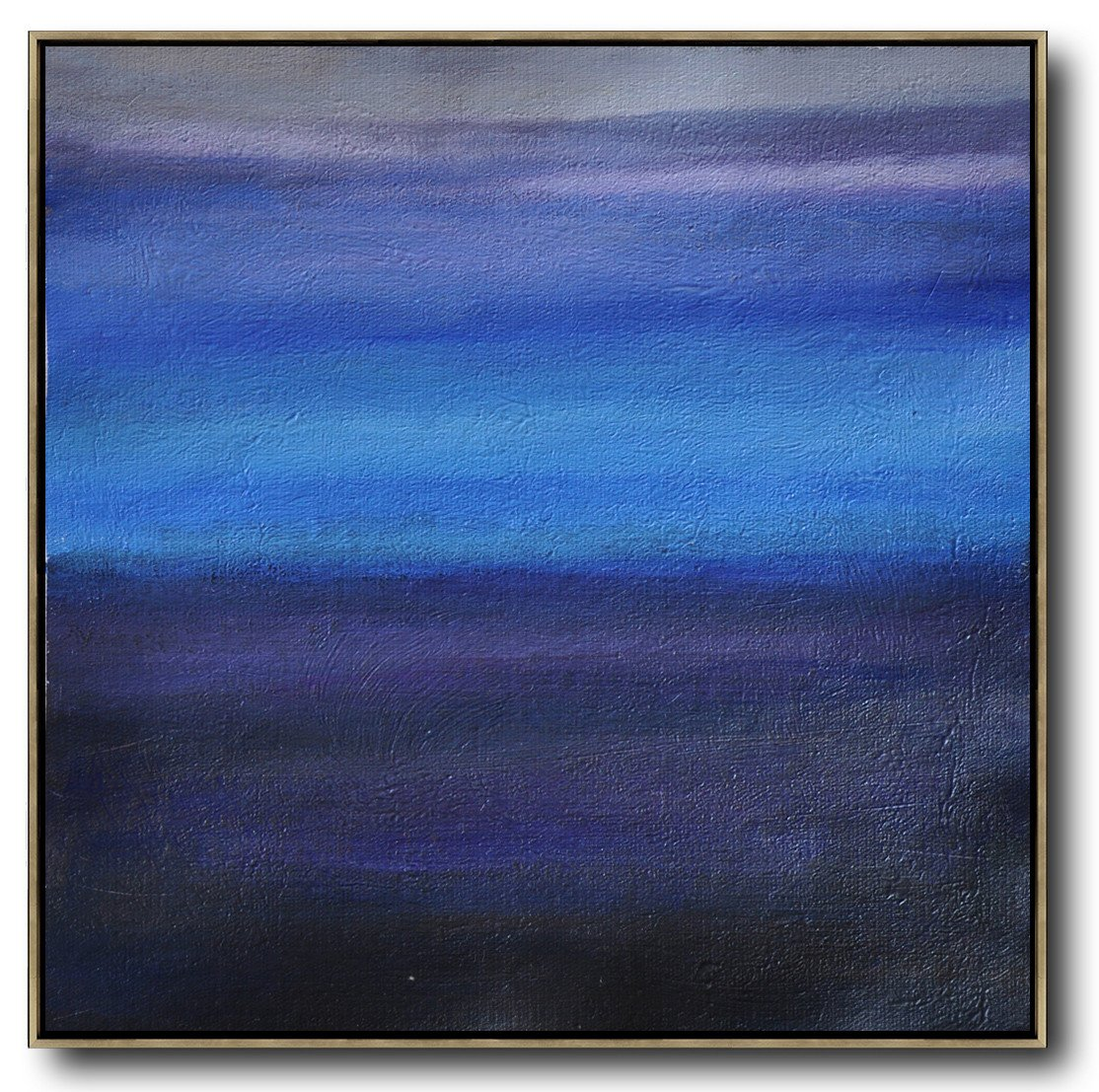 Abstract Painting Extra Large Canvas Art,Oversized Abstract Landscape Painting,Modern Wall Decor,Gray,Blue,Black.etc