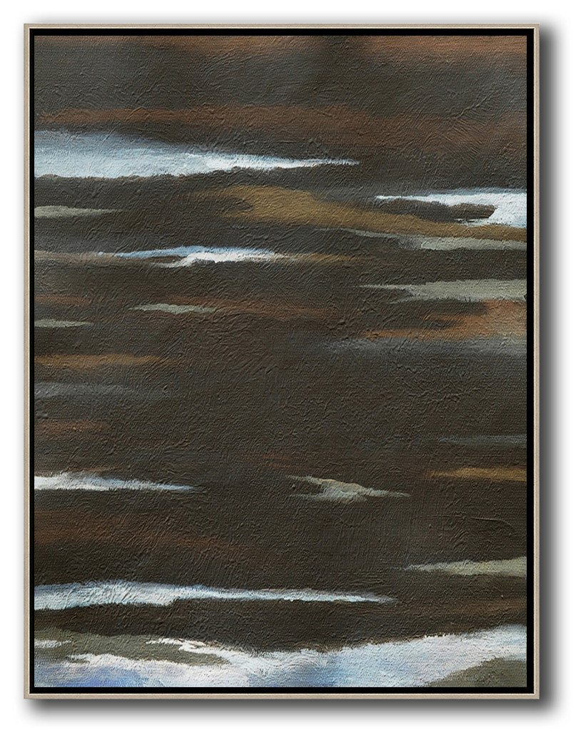 Abstract Painting Extra Large Canvas Art,Oversized Abstract Landscape Painting,Big Painting,Black,White,Brown.etc