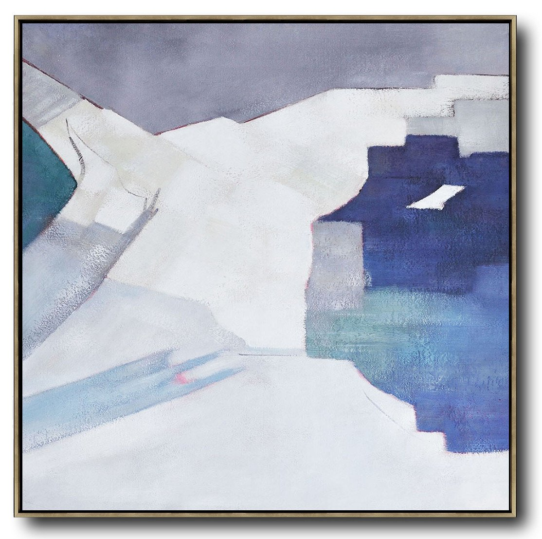 Extra Large Painting,Oversized Contemporary Art,Large Abstract Wall Art,Blue,White,Grey.etc
