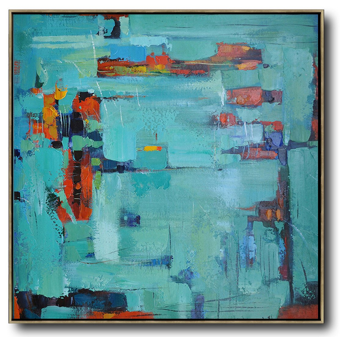 Large Abstract Art Handmade Painting,Oversized Contemporary Art,Modern Paintings,Green,Blue,Red.etc