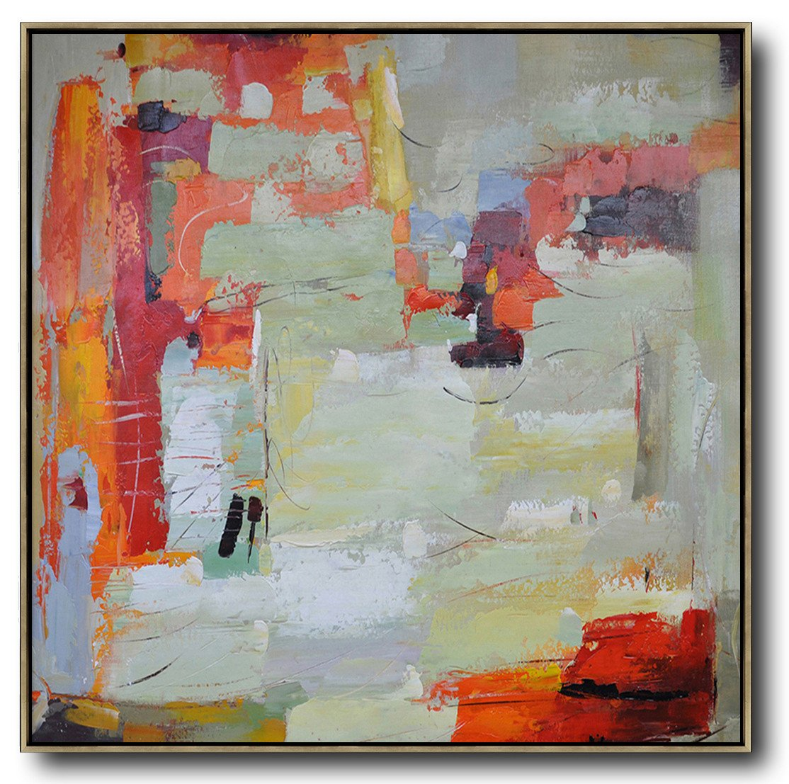 Handmade Painting Large Abstract Art Oversized Contemporary