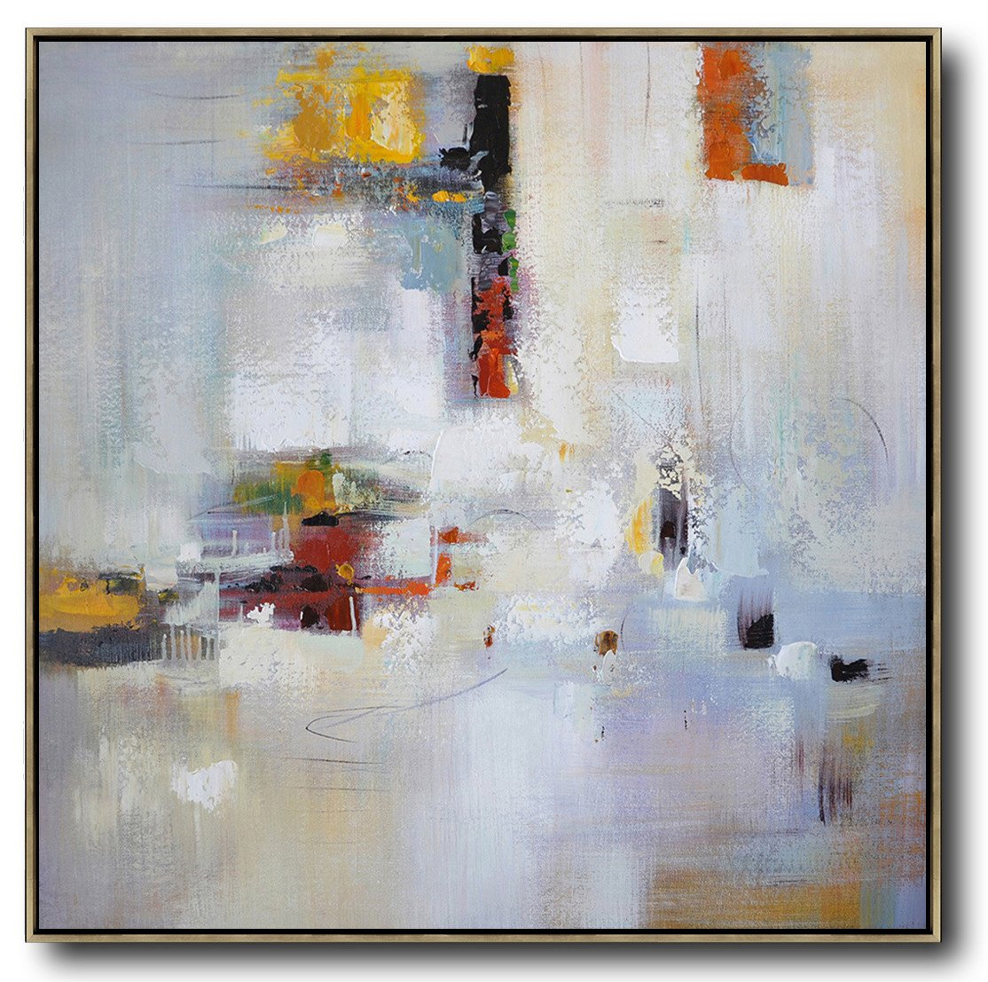 Large Abstract Painting Canvas Art,Oversized Contemporary Art,Canvas Wall Paintings,Purple,White,Red,Yellow.etc