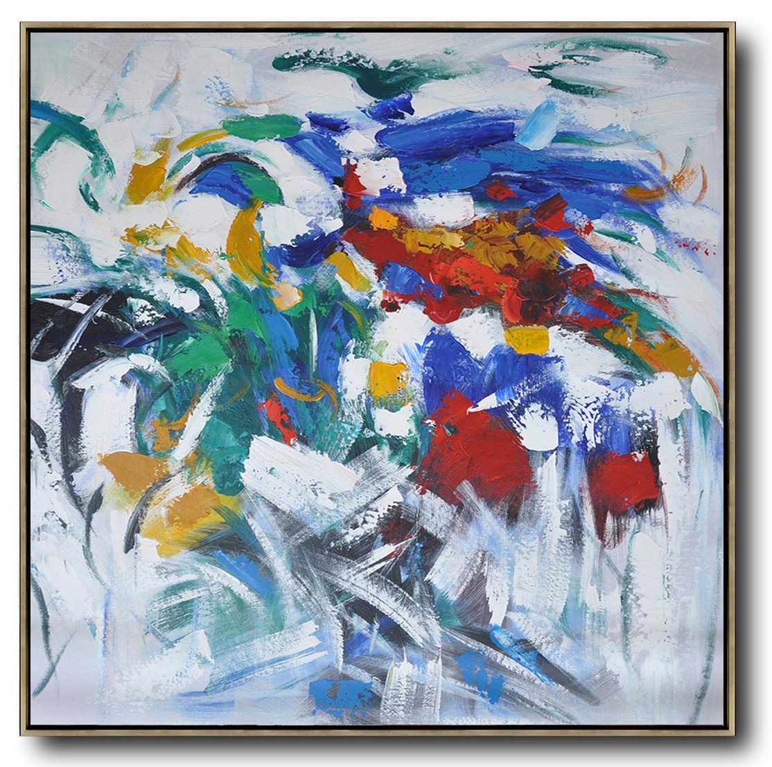 Extra Large Painting,Oversized Contemporary Art,Abstract Paintings On Sale,Blue,Red,Orange,White.etc