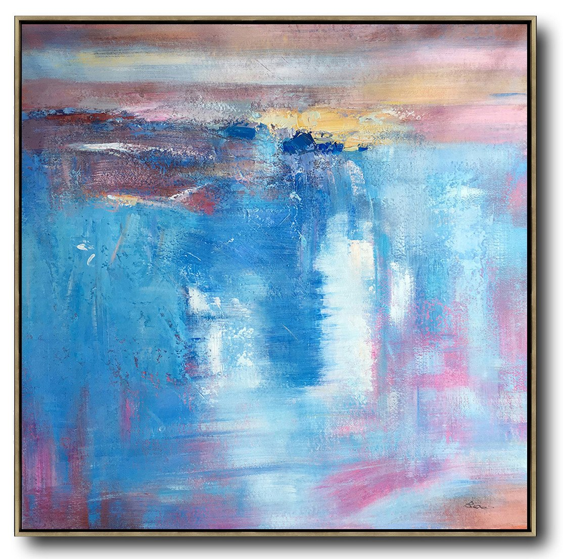 Extra Large Abstract Painting On Canvas,Oversized Contemporary Art,Acrylic Painting Canvas Art,Blue,White,Pink,Purple.etc