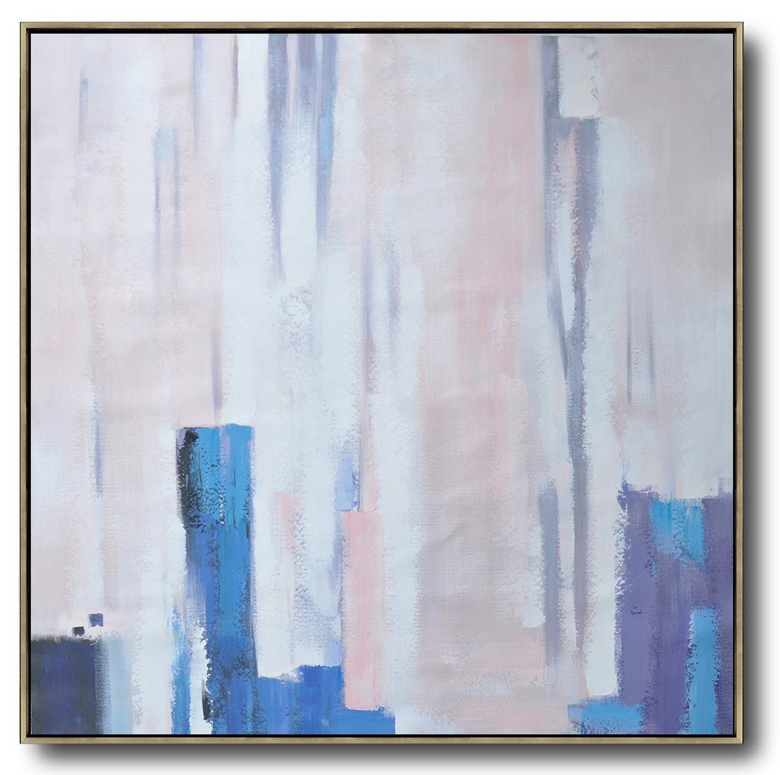 "Extra Large 72"" Acrylic Painting,Oversized Contemporary Art,Extra Large Canvas Art,Handmade Acrylic Painting,White,Pink,Violet Ash.etc"