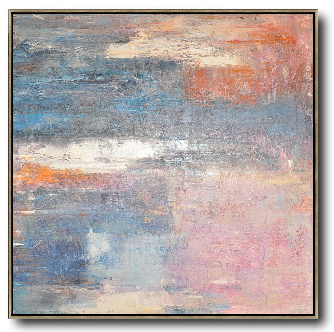 Large Abstract Art,Oversized Contemporary Art,Contemporary Abstract Painting,Pink,Blue,Orange,Beige.etc