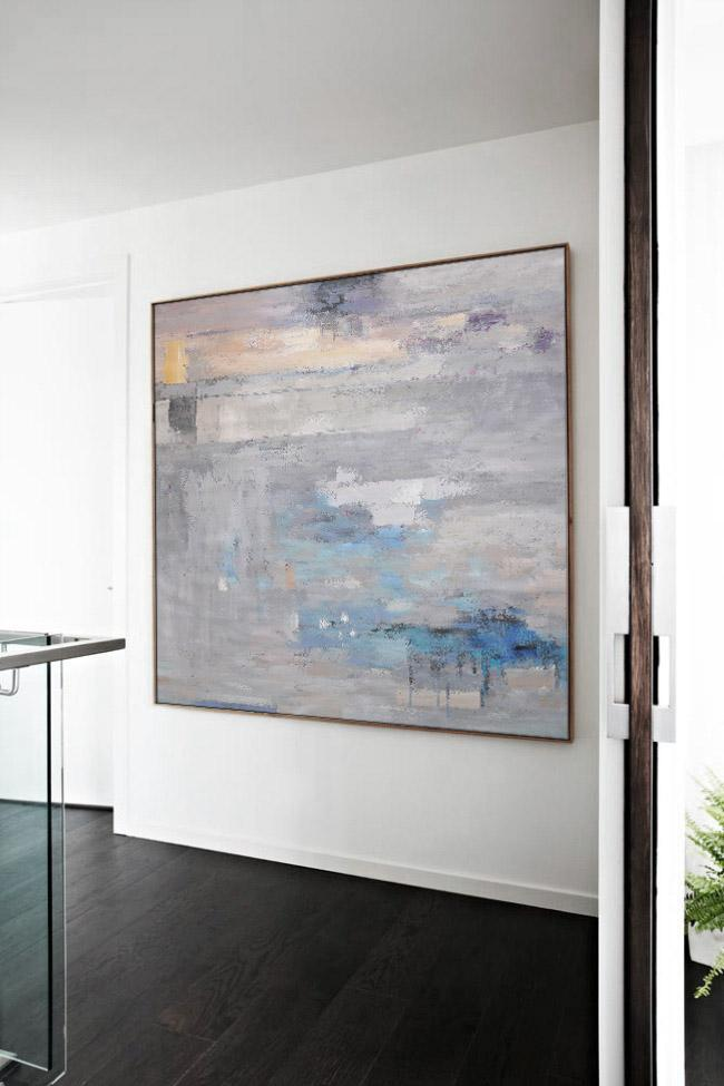 Original Extra Large Wall Art,Oversized Contemporary Art,Artwork For Sale,Grey,Blue,White.etc