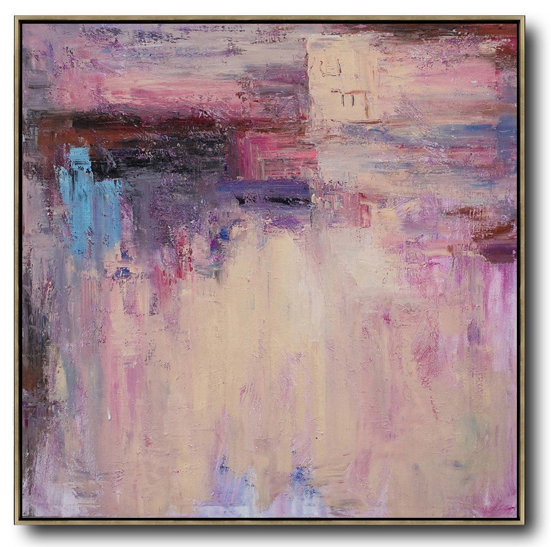 Handmade Large Contemporary Art,Oversized Contemporary Art,Original Abstract Art Paintings,Pink,Nude,Blue,Purple.etc