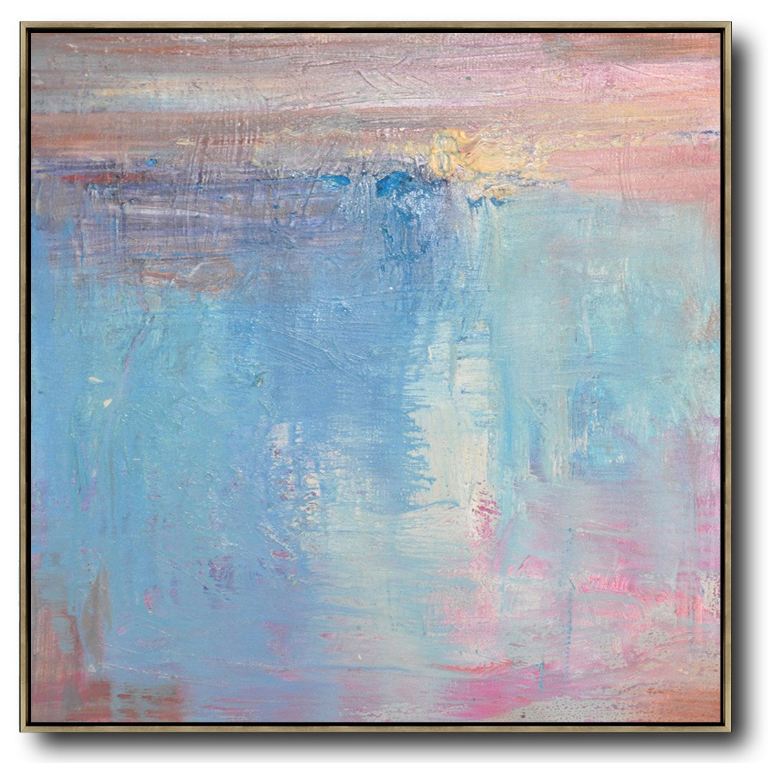 Large Abstract Art Handmade Painting,Oversized Contemporary Art,Multicolor Abstract Painting,Pink,Blue,White,Taupe.etc