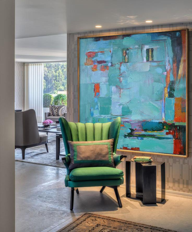 Handmade Painting Large Abstract Art,Oversized Contemporary Art,Modern Painting Abstract,Green,Blue,Red,Orange.etc