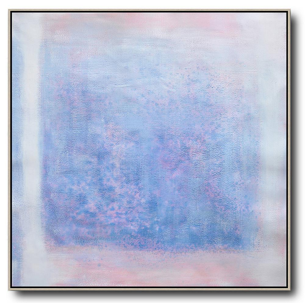 "Extra Large 72"" Acrylic Painting,Oversized Contemporary Painting,Large Canvas Art,Blue,Pink,White,Gray.etc"