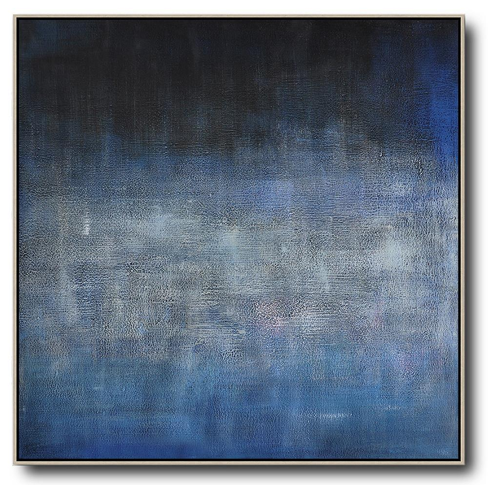 Abstract Painting Extra Large Canvas Art,Oversized Contemporary Painting,Modern Canvas Art,Dark Blue,Black,Grey.etc