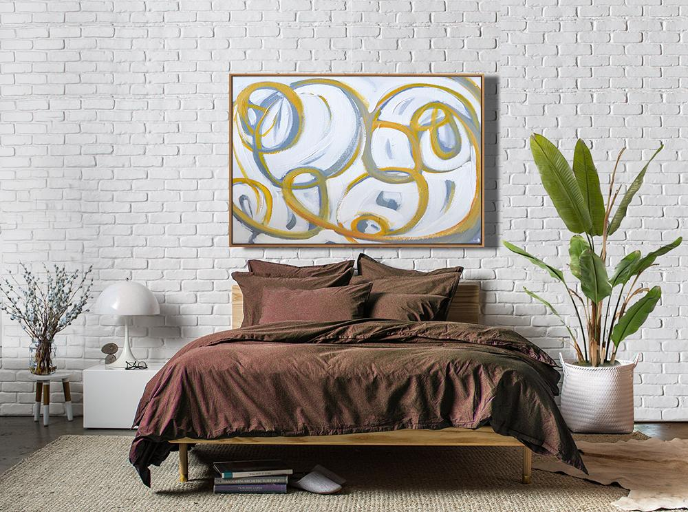 Abstract Painting Extra Large Canvas Art,Horizontal ...