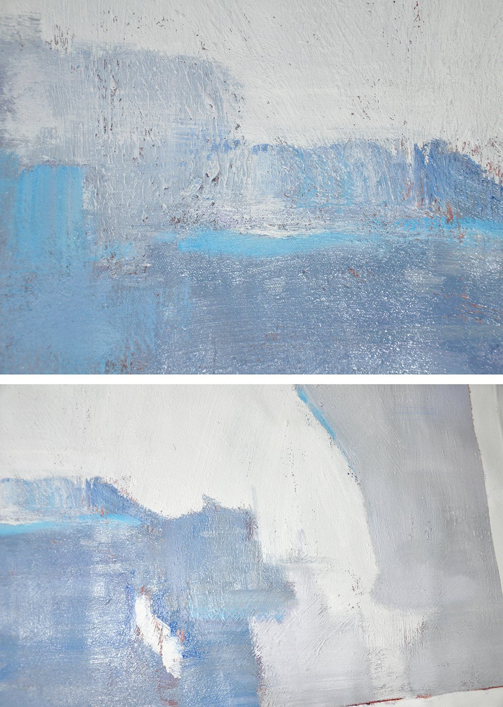 Abstract Painting Extra Large Canvas Art,Oversized Horizontal Contemporary Art,Oversized Canvas Art,White,Grey,Blue.etc