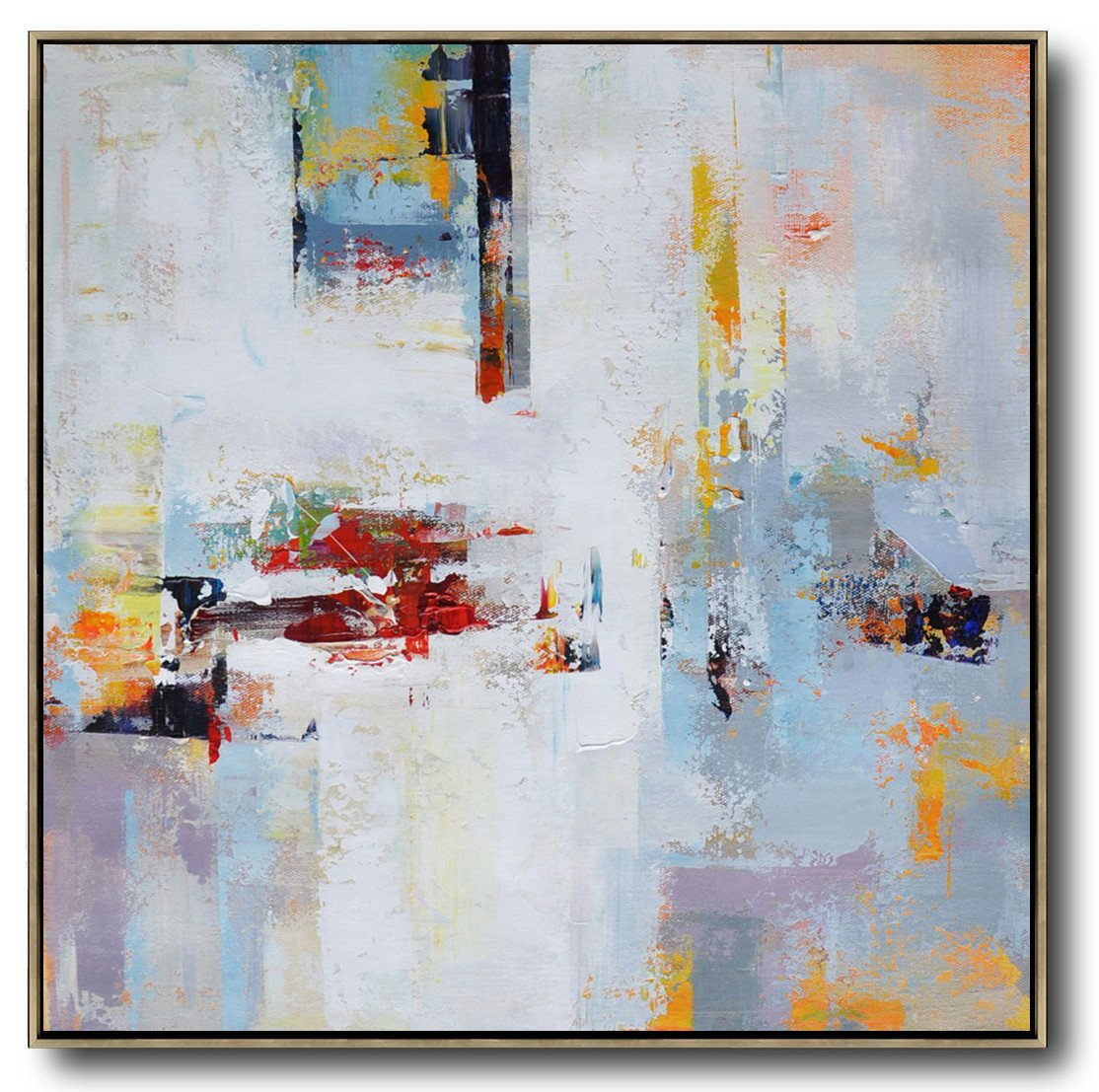 Large Abstract Art Oversized Palette Knife Painting Contemporary