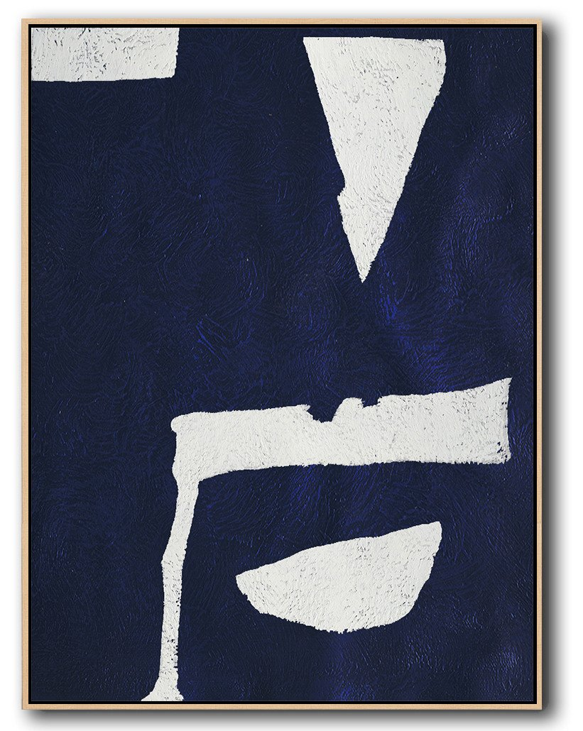 Abstract Painting Extra Large Canvas Art,Navy Blue Abstract Painting Online,Modern Paintings On Canvas