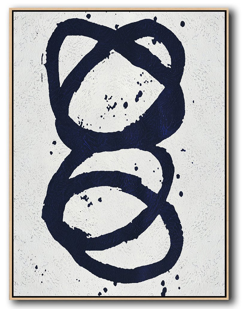 Original Artwork Extra Large Abstract Painting,Navy Blue Abstract Painting Online,Colorful Wall Art