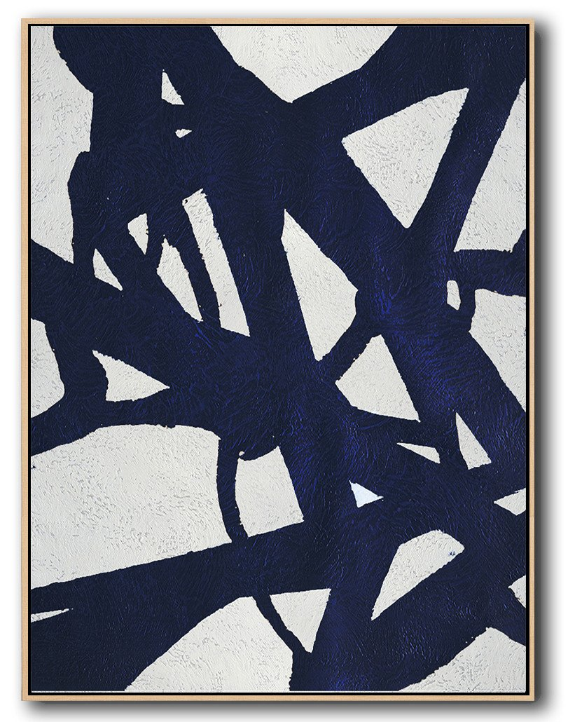 Abstract Painting Extra Large Canvas Art,Navy Blue Abstract Painting Online,Abstract Oil Painting