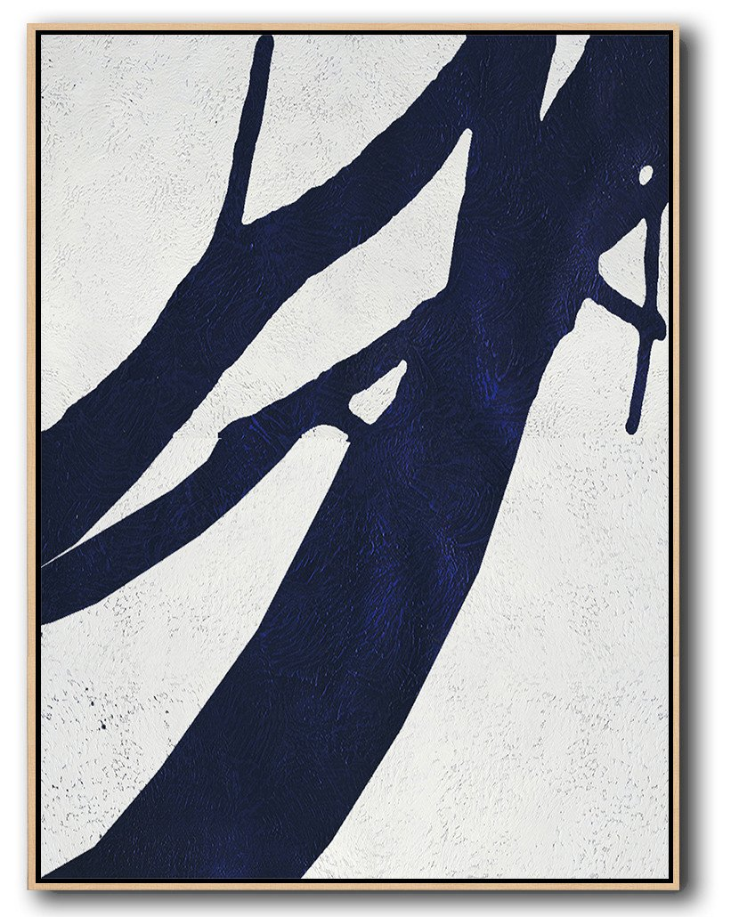 Big Art Canvas,Navy Blue Abstract Painting Online,Canvas Wall Paintings