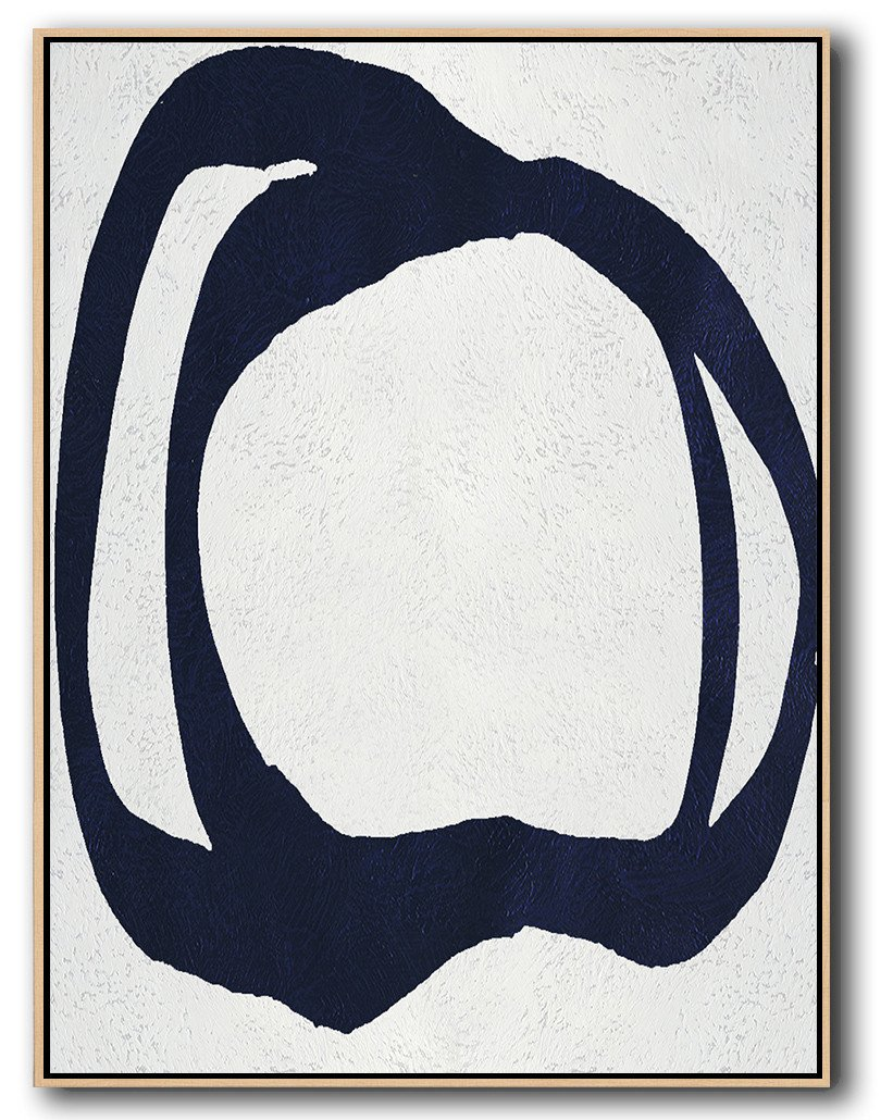 Large Modern Abstract Painting,Navy Blue Abstract Painting Online,Large Abstract Art Handmade Acrylic Painting