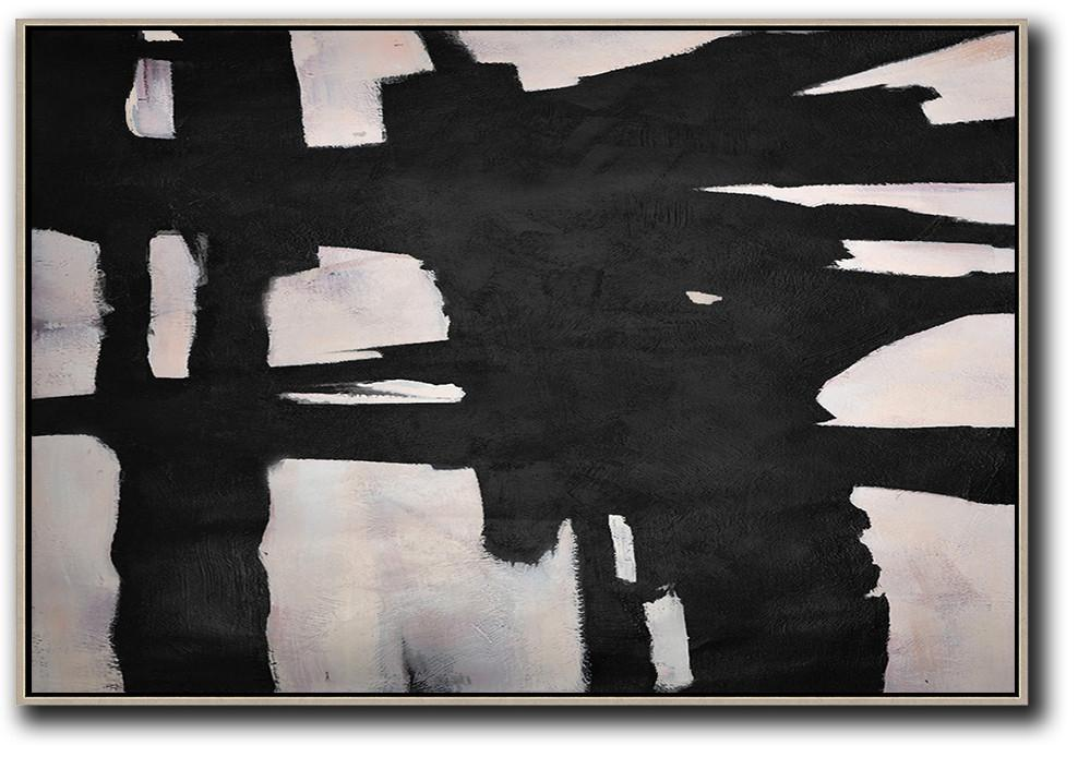 Large Abstract Art,Hand-Painted Oversized Horizontal Minimal Art On Canvas,Custom Oil Painting