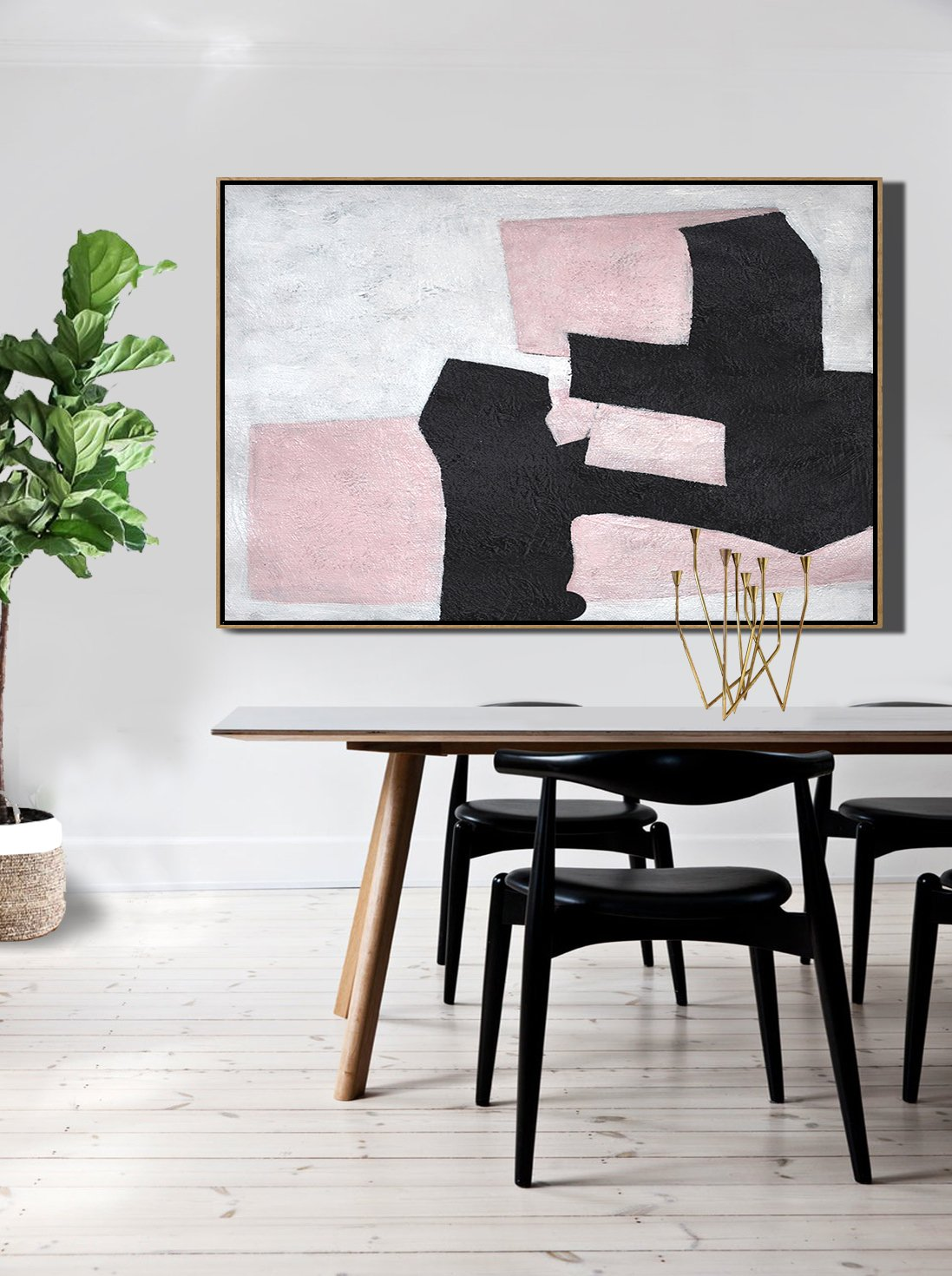 "Extra Large 72"" Acrylic Painting,Hand-Painted Oversized Horizontal Minimal Art On Canvas,Abstract Paintings On Sale"