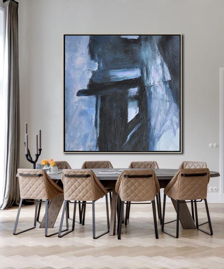 Abstract Painting Extra Large Canvas Art,Hand-Painted Oversized Minimal Painting On Canvas,Acrylic Painting On Canvas