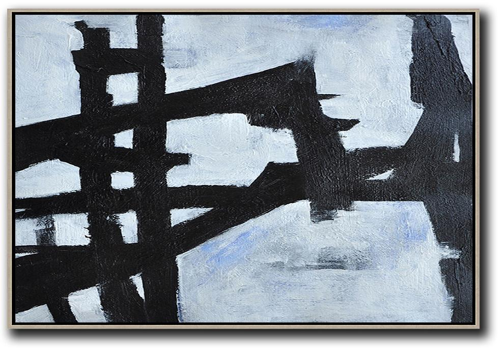 Large Canvas Art,Modern Art Abstract Painting,Oversized Horizontal Minimal Art On Canvas - Big Canvas Painting