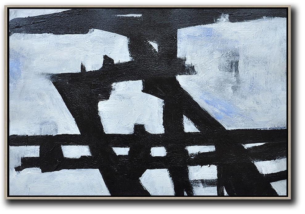 Hand Paint Large Art,Oversized Horizontal Minimal Art On Canvas - Extra Large Paintings
