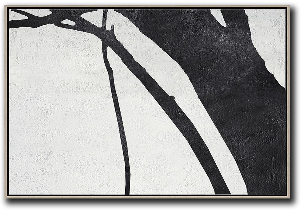 Abstract Painting Modern Art,Oversized Horizontal Minimal Art On Canvas - Giant Canvas Wall Art