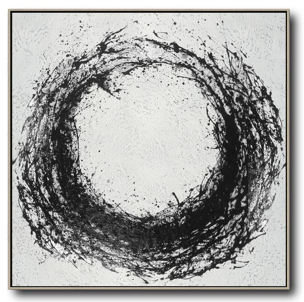 abstract painting extra large canvas artoversized minimal black and white painting wall art ideas for living room