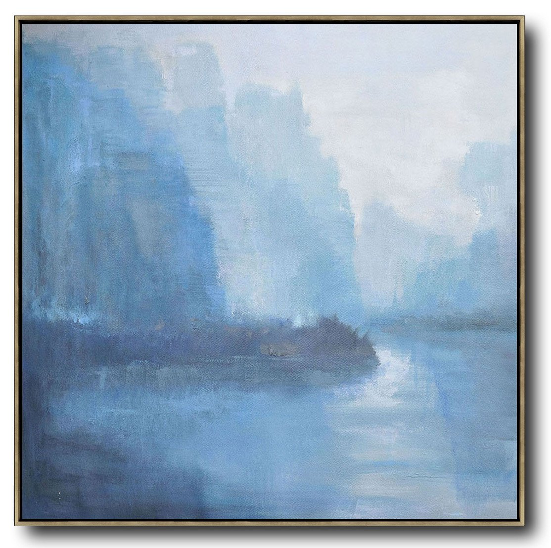 Handmade Painting Large Abstract Art,Abstract Landscape Oil Painting,Textured Painting Canvas Art,White,Blue,Purple Grey.etc