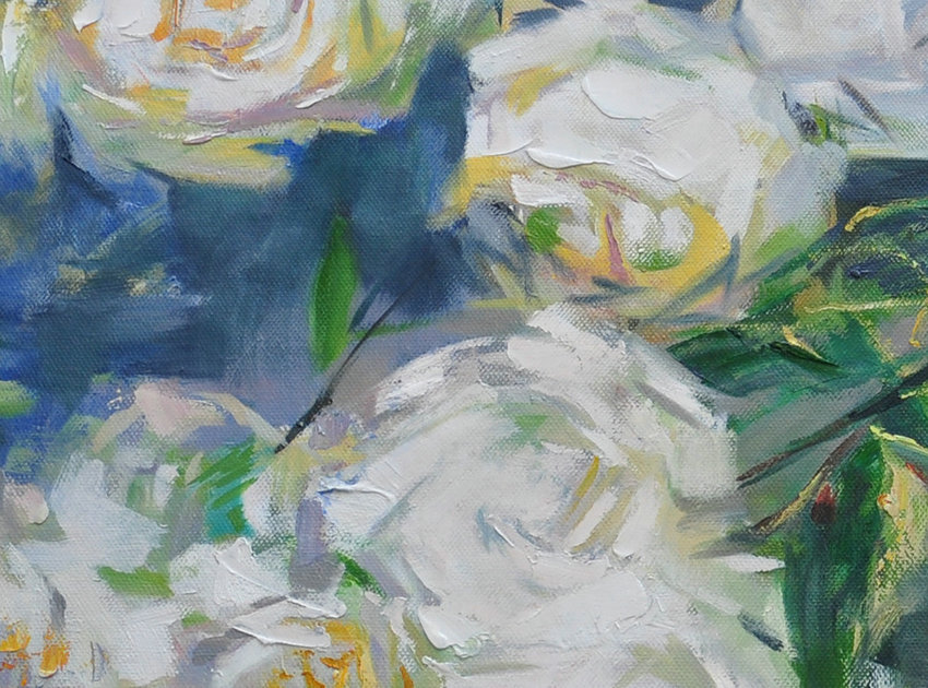 Extra Large Acrylic Painting On Canvas Abstract Flower Oil
