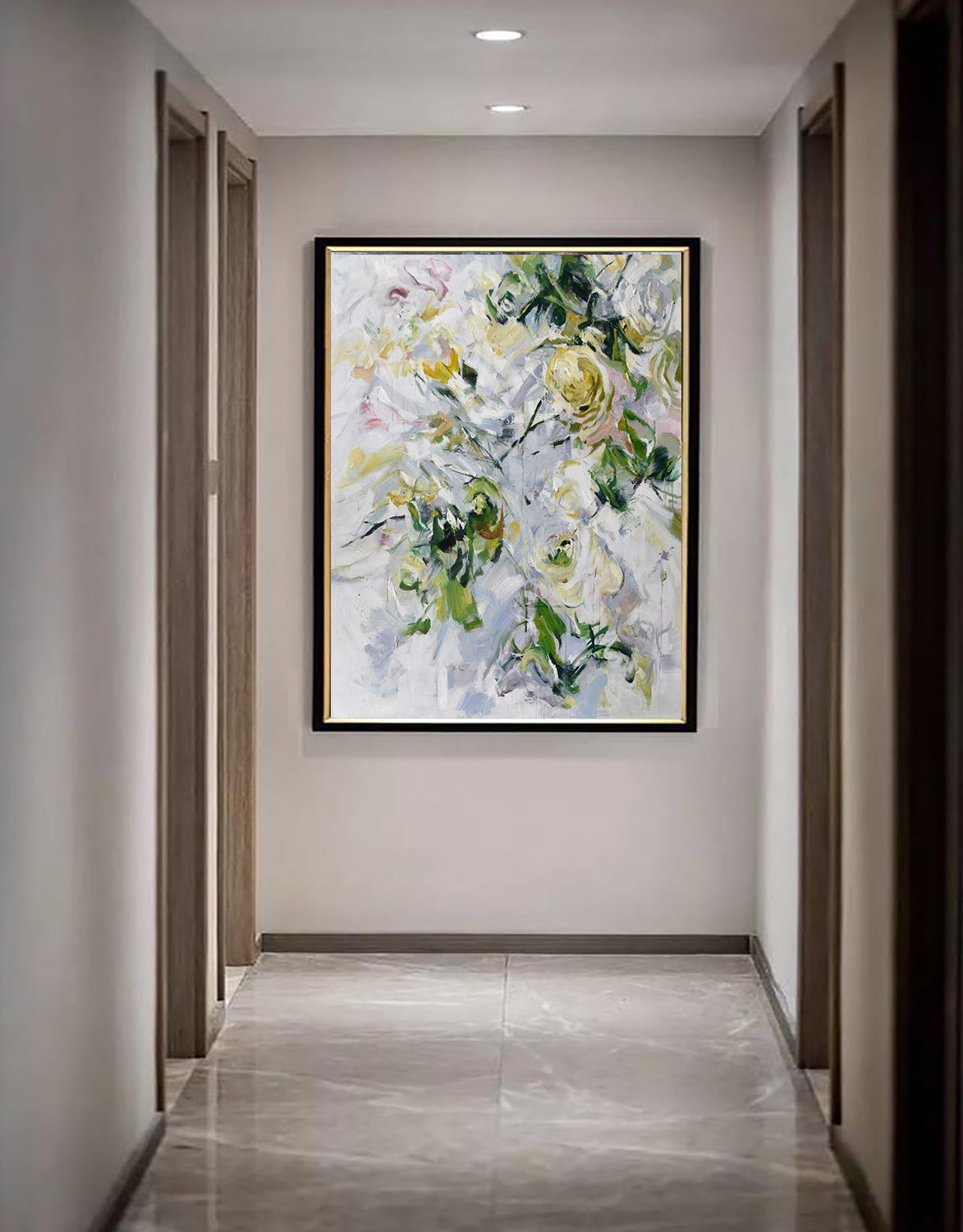 Extra Large Living Room Wall Art: Extra Large Acrylic Painting On Canvas,Oversized Abstract