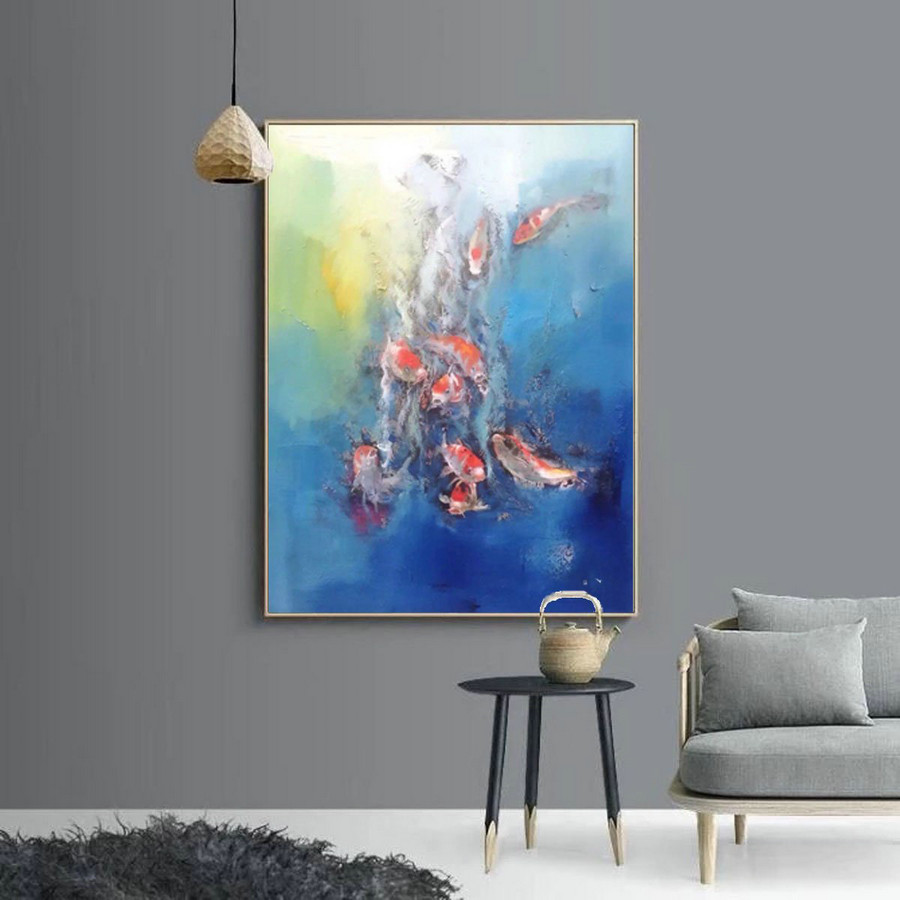 Extra large canvas wall art, abstract artist contemporary painting L119