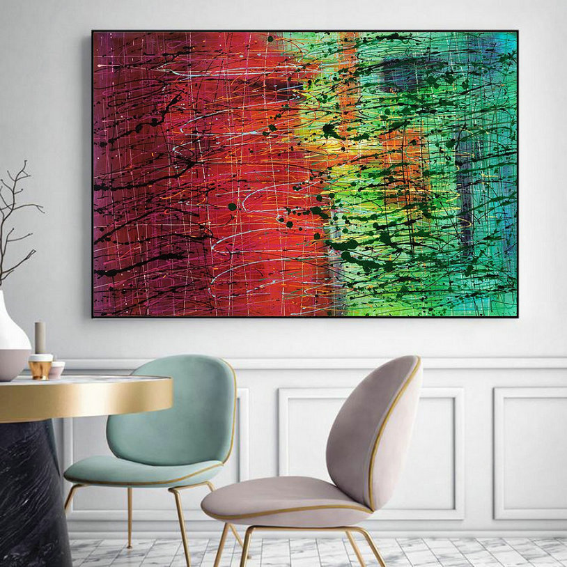 large abstract paintings on canvas L231