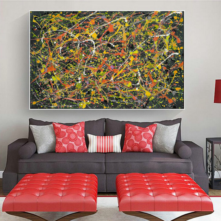works of Original abstract,Original abstract painting,Original abstract dripping L619