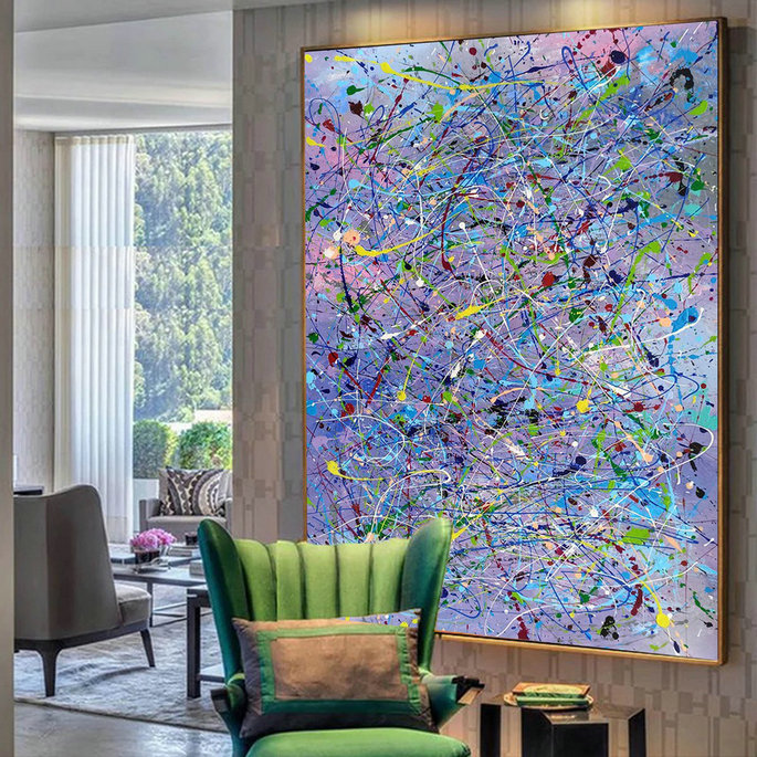 Abstract drip painting,Drip art LA119