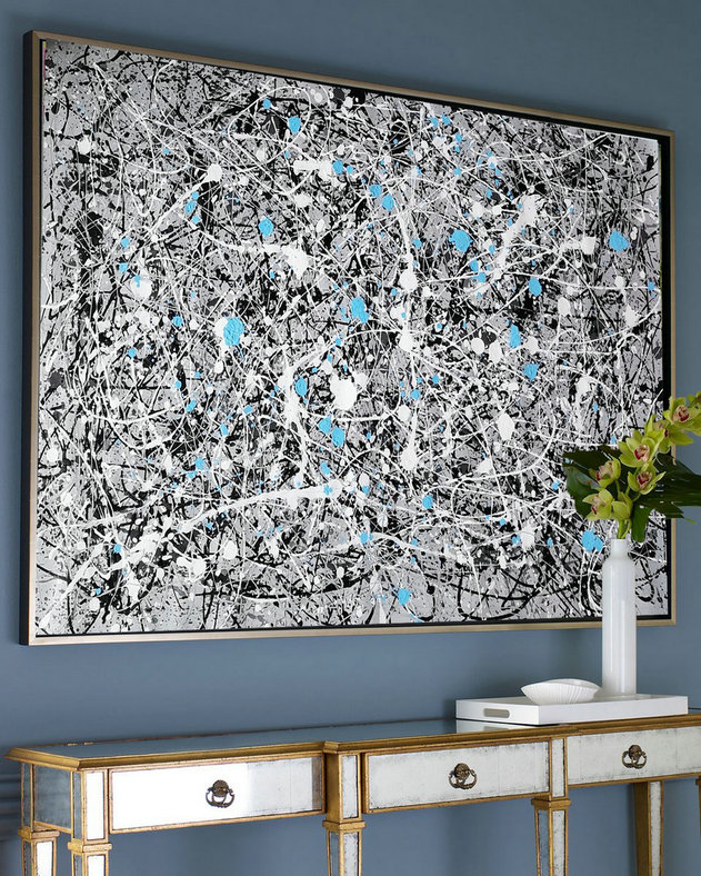 extra large wall art, abstract acrylic painting L642