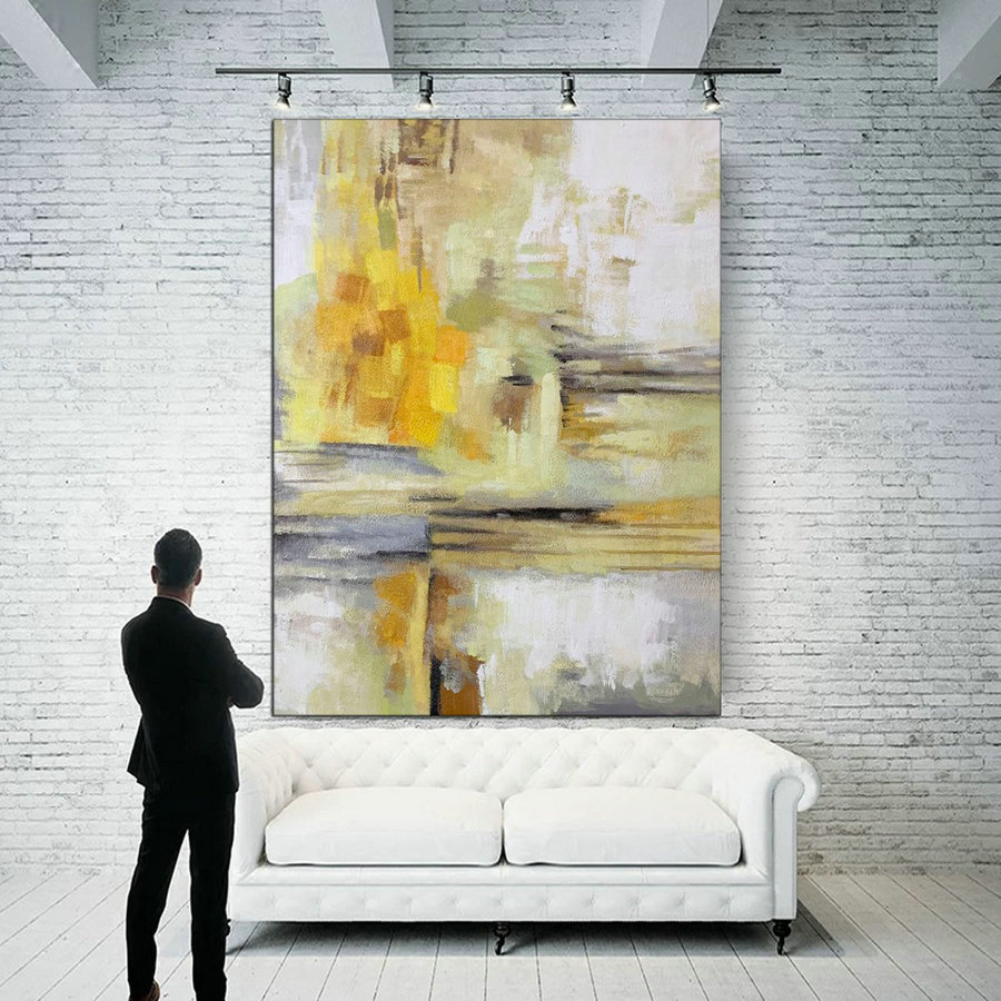 Long abstract painting,Colorful abstract paintings on canvas 179
