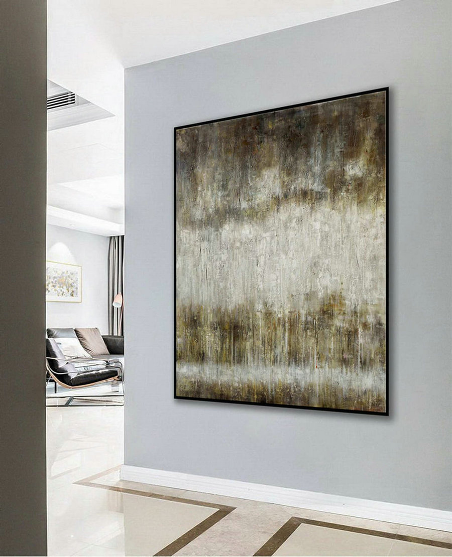 Modern Neutral Abstract Wall Art Texture Minimalist Contemporary Art Work Hand Made Oil Painting On Canvas Large Minimal Artwork,Large Wall Canvas