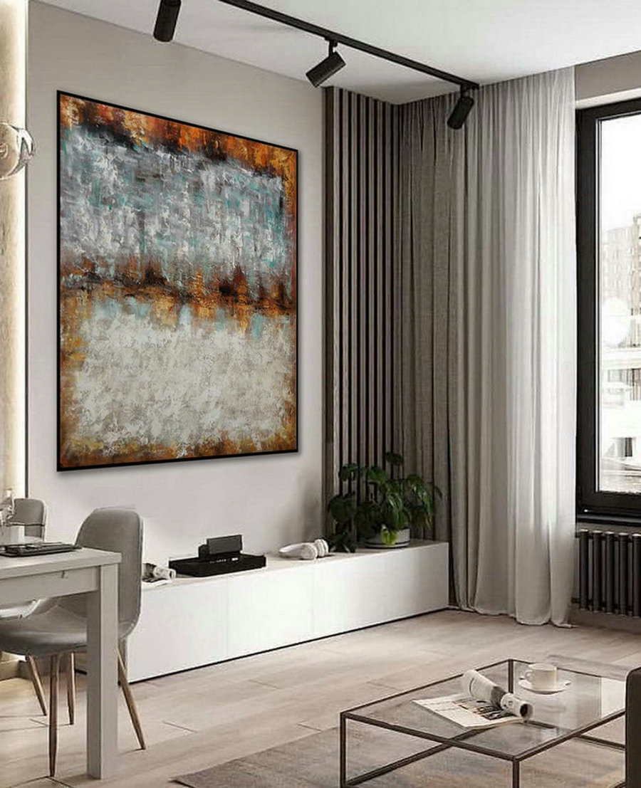 Texture Minimalist Contemporary Art Work Hand Made Acrylic Canvas Painting Large Minimal Artwork Modern Neutral Abstract Wall Art ,Oversized Art For Sale