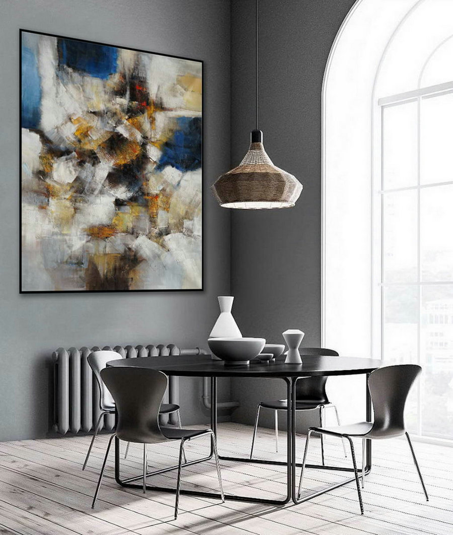 Large Abstract Canvas Wall Art Heavy Texture Modern Contemporary Oil Textured Paintings On Canvas For Office Hotel Living Dining Room,Where To Buy Large Canvas