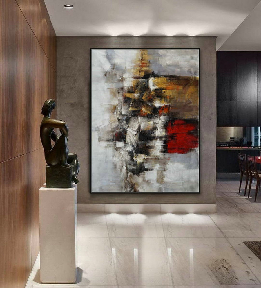 Modern Texture Abstract Contemporary Wall Art Hand Painted Oil Painting On Canvas Extra Large Xxl 60Inch X 80Inch / 150X200Cm,Canvas Art For Sale