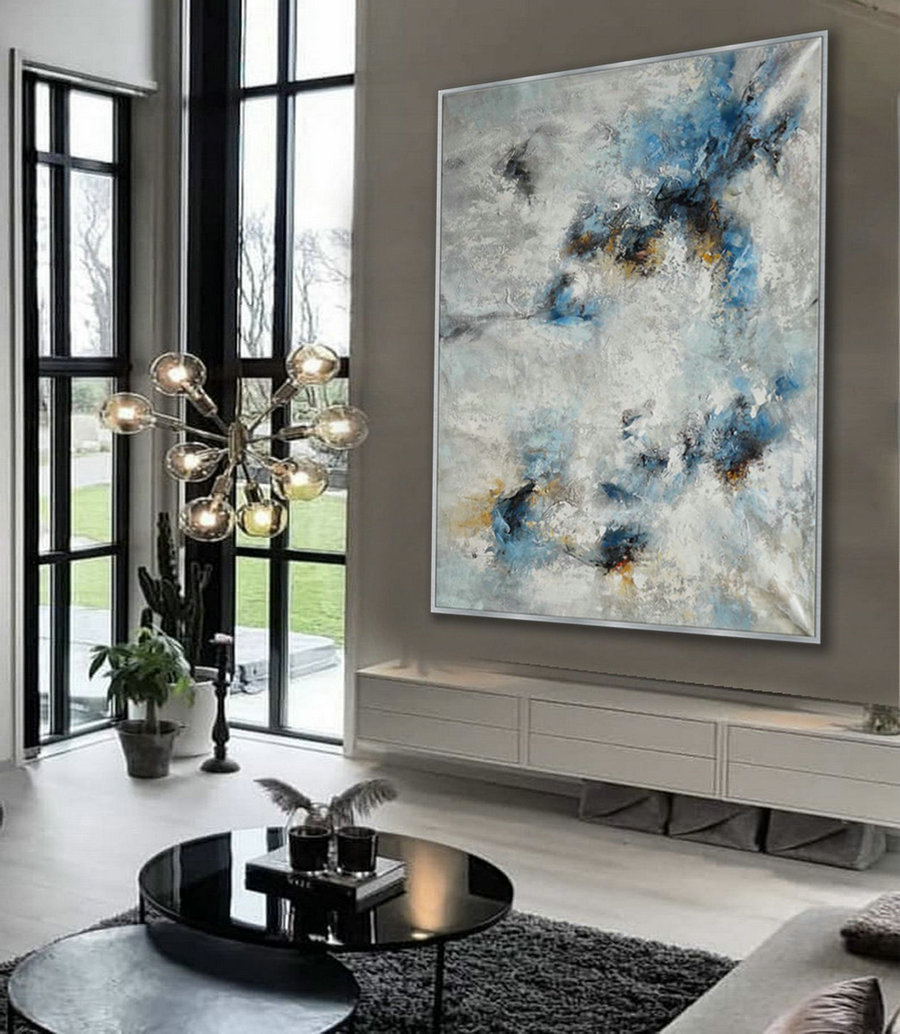 Heavy Texture Abstract Wall Art Hand Painted Modern Contemporary Acrylic Painting On Canvas Extra Large Xl 60X80Inch / 150X200Cm,Giant Canvas Wall Art
