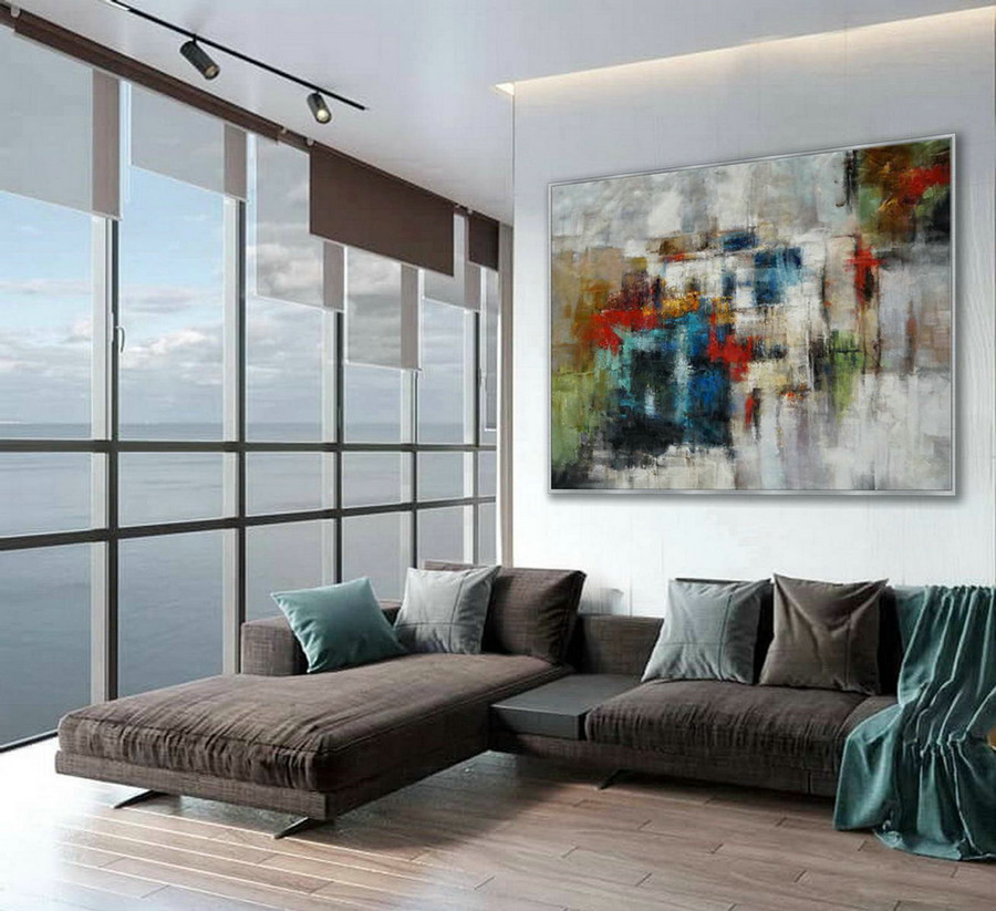 Modern Texture Abstract Contemporary Wall Art Hand Painted Oil Painting On Canvas Extra Large Xxl 60Inch X 80Inch / 150X200Cm,Giclee Printing On Canvas